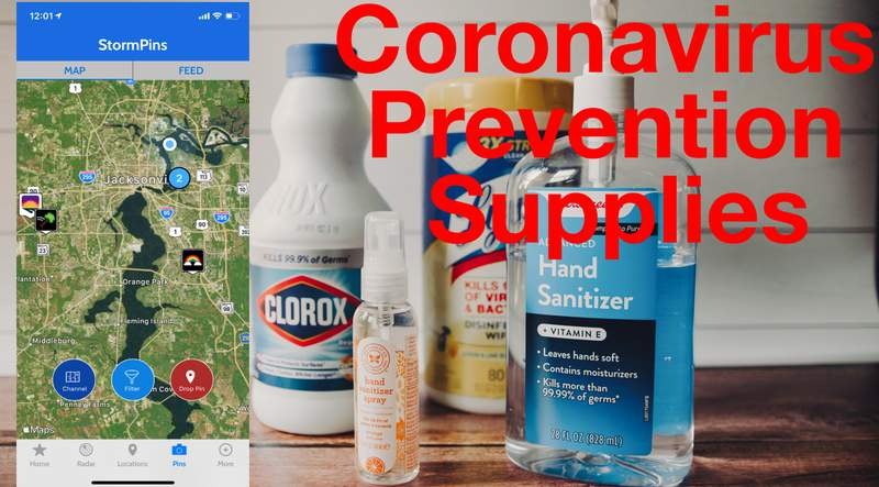 StormPins in the WJXT Weather Authority App can help you locate supplies that are running short during the threat of Coronavirus