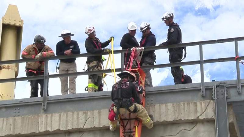 Photo of first responders during realistic training