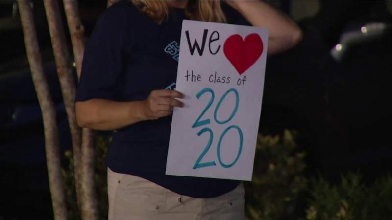 Clay County school finds a new way to celebrate graduation during outbreak.