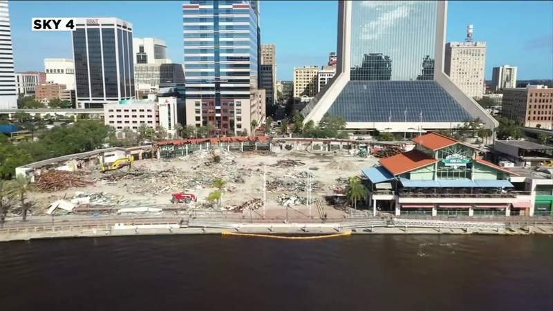 Only one building left standing at Jacksonville Landing