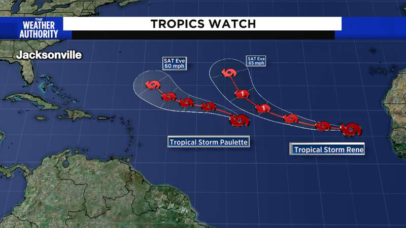 Tropical Storm Paulette and Rene