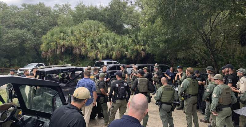 Search underway at 'vast' Florida wildlife reserve for missing Florida woman's fiancé