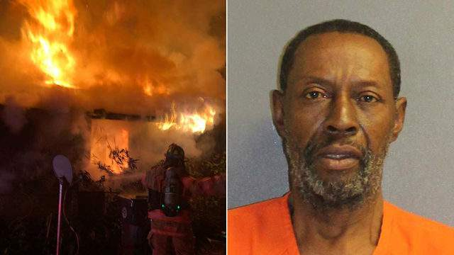 Melvin Weaver, 64, faces charges of aggravated battery and arson.