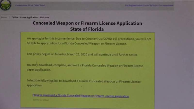 Lawsuit challenges Fried's concealed weapons decision amid pandemic