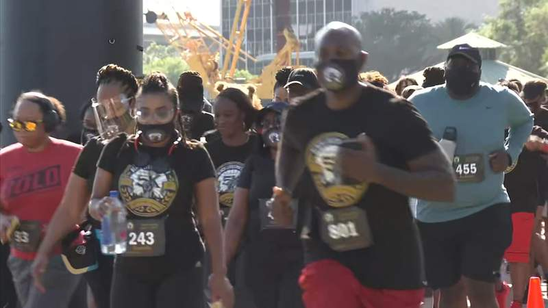 The race kicked off at Riverfront Plaza, the site of the old Jacksonville Landing, and the event included live entertainment, vendors and food trucks.