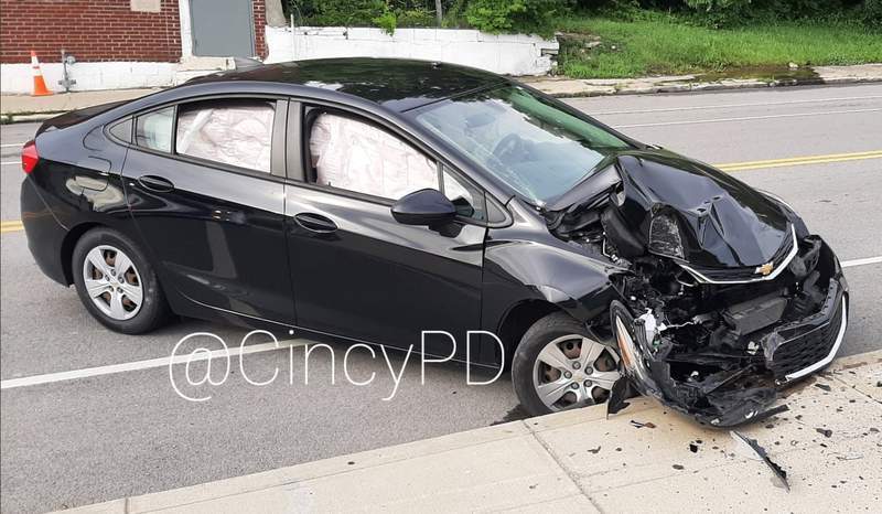 #Crash single car into a pole at 2600 Riverside Drive. Caused by a cicada that flew in through an open window striking the driver in the face. #nothinggoodhappenswithcicadas #cicadas2021