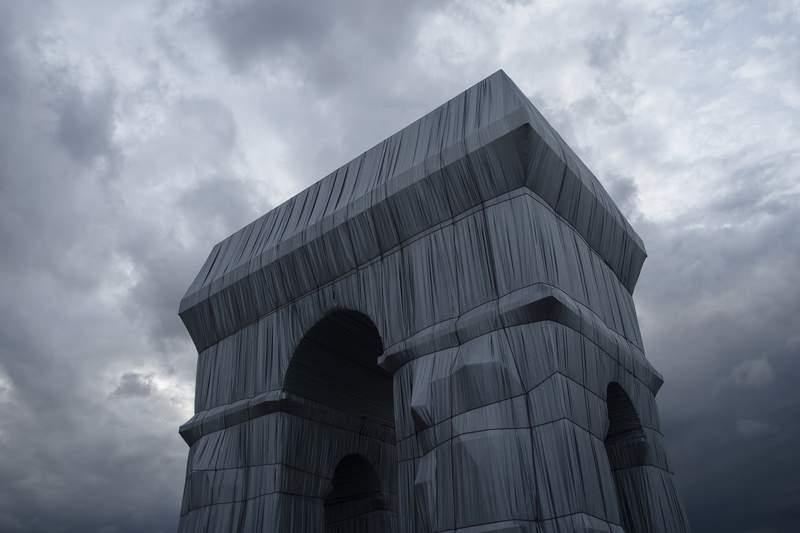 'A big gray elephant': Paris' Arc de Triomphe is wrapped up