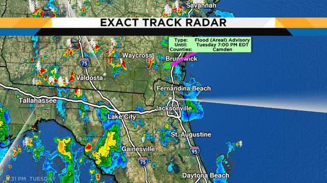 Evening radar showing just random thundershowers mainly inland locations...