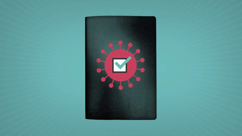What is a vaccine passport, and will I need one? (AP Illustration/Peter Hamlin)