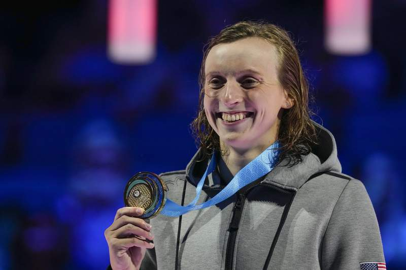 Need for speed: Ledecky wins 400 but slower than expected - WJXT News4JAX