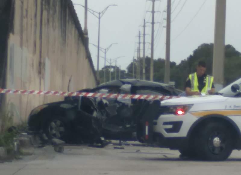 Scene of a fatal hit-and-run crash near Murray Hill.