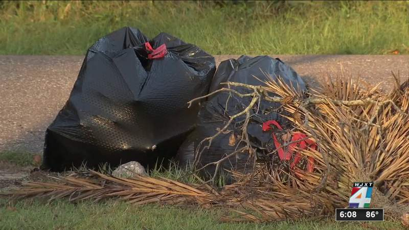 Yard waste left by Elsa piling up on Northeast Florida residents' curbs
