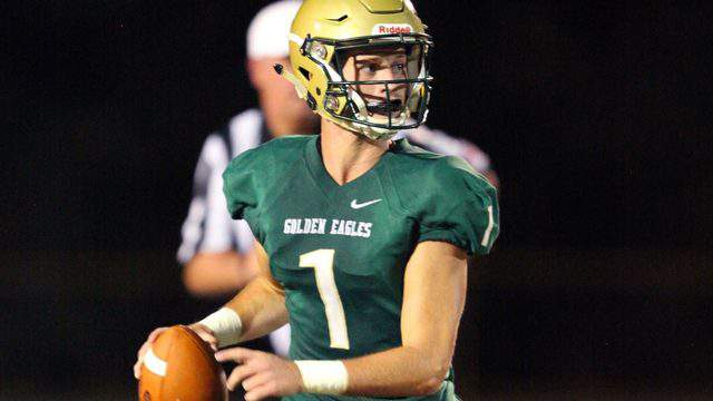 Fleming Island quarterback Dean Hyams and the Golden Eagles are one of just two area teams to finish the regular season unbeaten. (Ralph D. Priddy, Contributed photo)