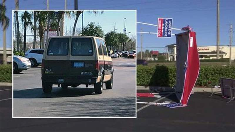 Police: Van drives through Republican's voter registration tent in Jacksonville
