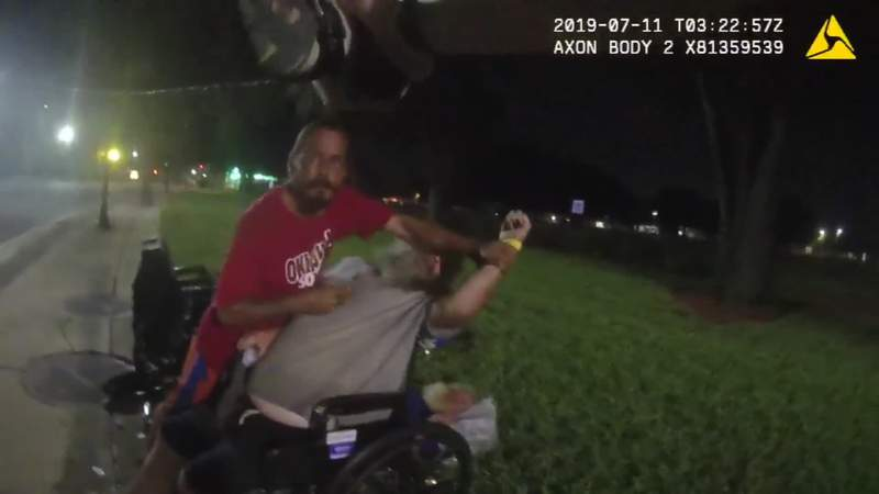 Jacksonville police release body cam footage of officer shooting knife-wielding man