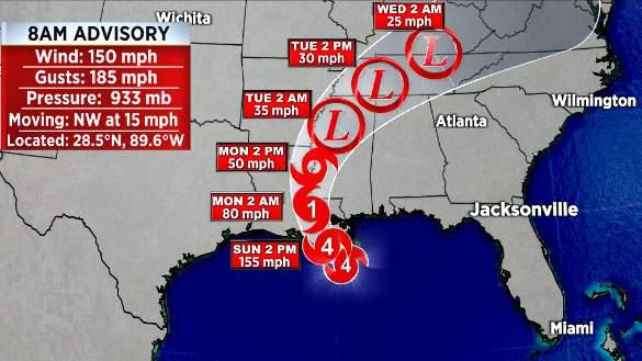 Winds from Cat 4 Hurricane begin lashing Louisiana