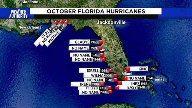 October storms tend to hit Florida on the Gulf side more frequently despite the change of season to fall.