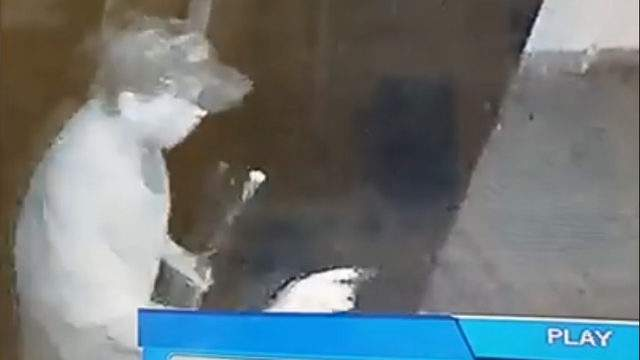 Two Saints Restaurant & Grill posted video of the steak thief on its Facebook page.