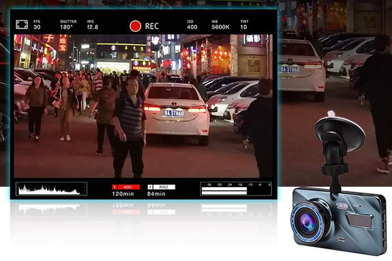 This dash cam is equipped with a 170° wide-angle view from five different lenses and it gives you high-quality images and footage for excellent clarity.
