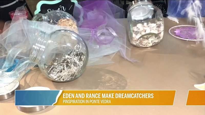 Eden and Rance Make Dreamcatchers at Pinspiration | River City Live