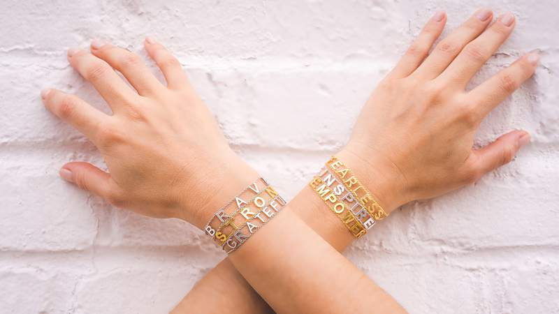 Bring in some positivity with this Maya J bracelet