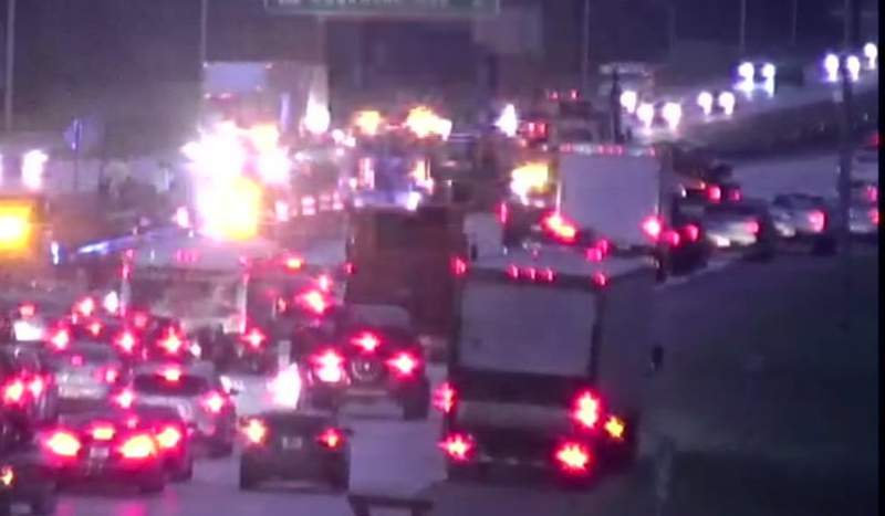 File photo of traffic back-up