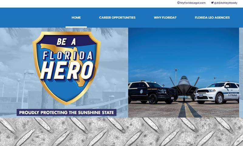 Attorney General Ashley Moody announces the launch of BeAFloridaHero.com.