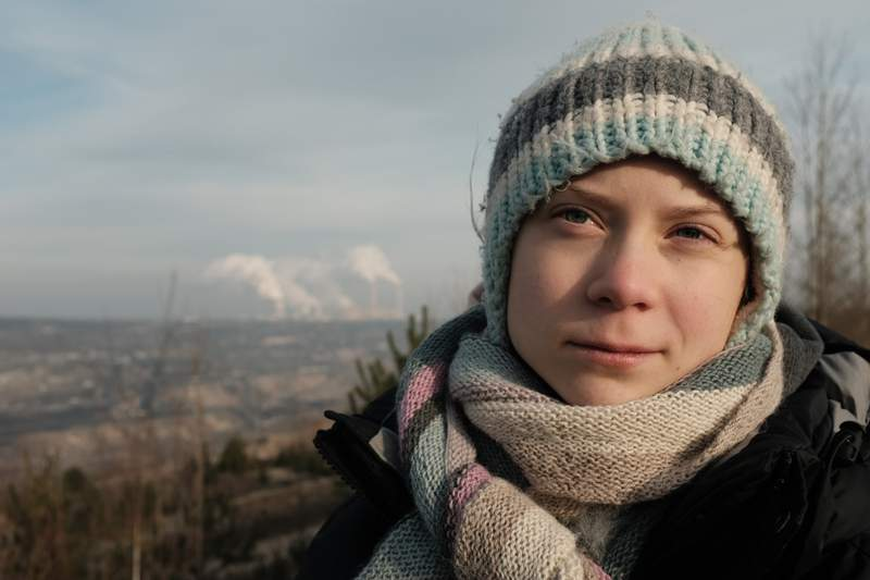"""This image released by PBS shows Greta Thunberg, the subject of the docuseries Greta Thunberg: A Year to Change the World.""""  The three-part series, a co-production between PBS and BBC Studios premieres Thursday. (Jon Sayers /BBC Studios/PBS via AP)"""