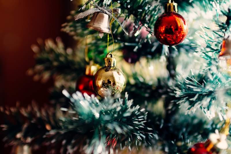 Stock photo of a Christmas tree