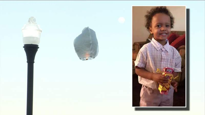 Family holds lantern release for 4-year-old boy who Jacksonville police say was murdered