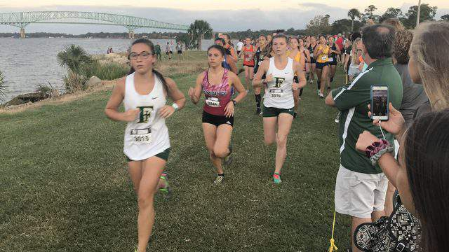 Runners compete at the Katie Caples Invitational last month at Bishop Kenny.