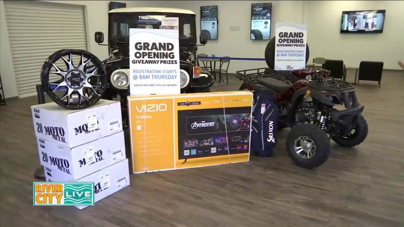 Tire Outlet Grand Opening Raffle Items