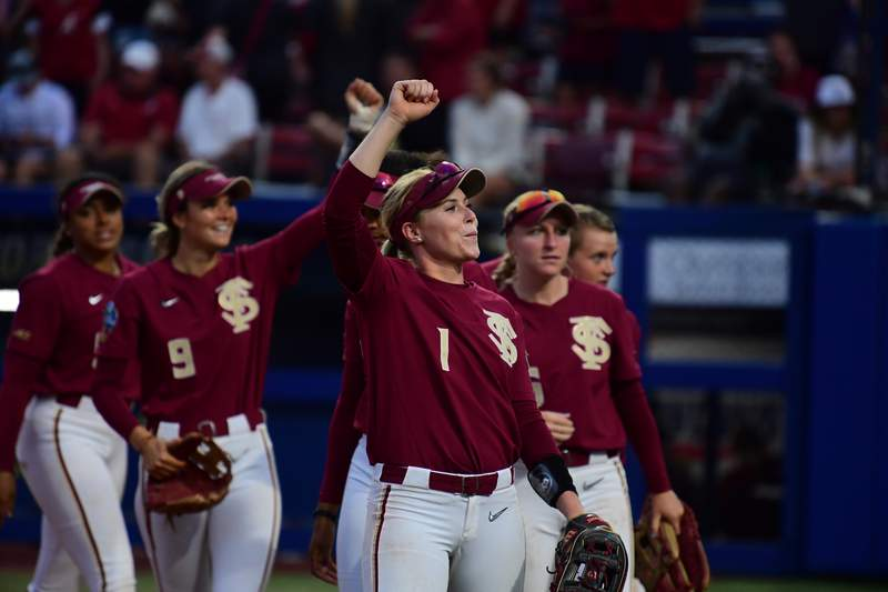 Florida State softball advances to the championship round ah the Women's College World Series.