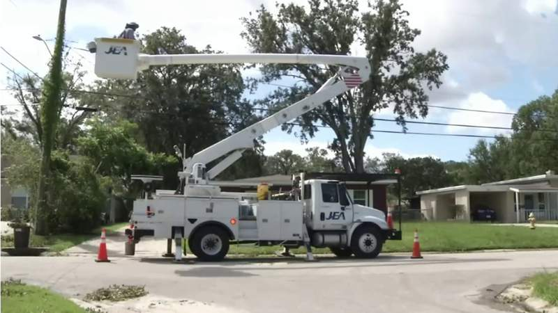 JEA & other utilities prepared to restore power in the event of Elsa-related outages