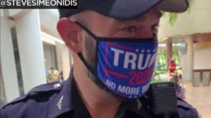 Miami police officer who wore Trump mask will be disciplined.