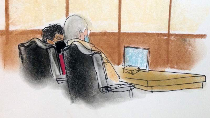 Katrina Brown in federal court on Monday.