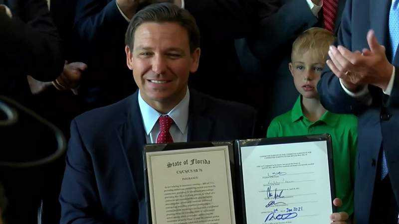 DeSantis signs bill giving homeowners insurance companies rate relief