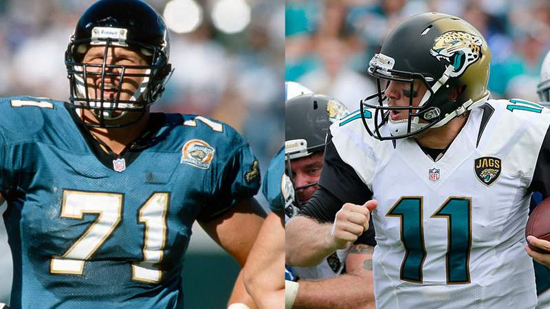 Tony Boselli (71) was the No. 2 selection in the 1995 draft. Blaine Gabbert was the No. 10 selection in the 2011 draft.