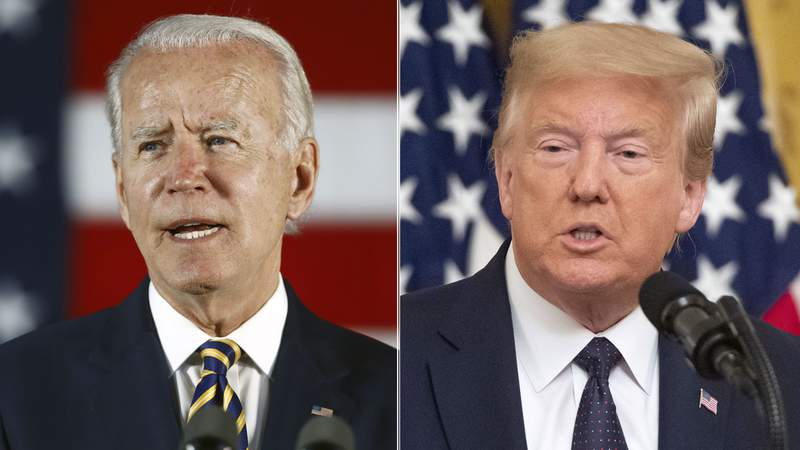 Vice President Joe Biden and President Donald Trump
