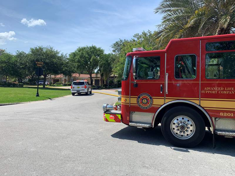 Crews were called to fight a brush fire Sunday near Hodges Boulevard, according to the Jacksonville Fire and Rescue Department.