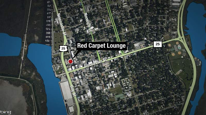 Map of Red Carpet Lounge in downtown Brunswick