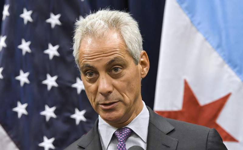 FILE- In this Jan. 15, 2017 file photo, then Chicago Mayor Rahm Emanuel speaks during a news conference in Chicago. President Joe Biden is expected to nominate former Chicago Mayor Rahm Emanuel to serve as ambassador to Japan, according to a person familiar with the president's decision. (AP Photo/Matt Marton)
