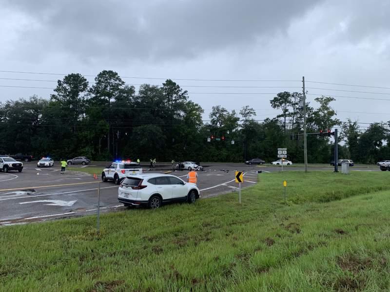 Crash involving semi connected  Dunn Avenue