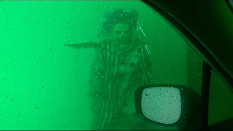 This is a stock photo of a haunted car wash. (Credit: WEWS)
