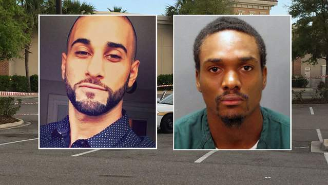 Family photo of Sina Sharifai; Jacksonville Sheriff's Office booking photo of Toray Ricketts