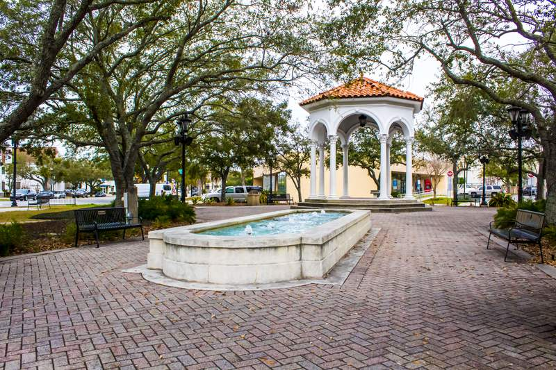 Fountain at Balid Park in Jacksonville, FL