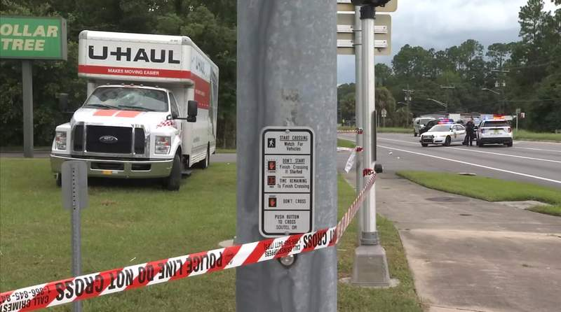 U-Haul struck pedstrian walking along U.S. 1 on Sunday afternoon.