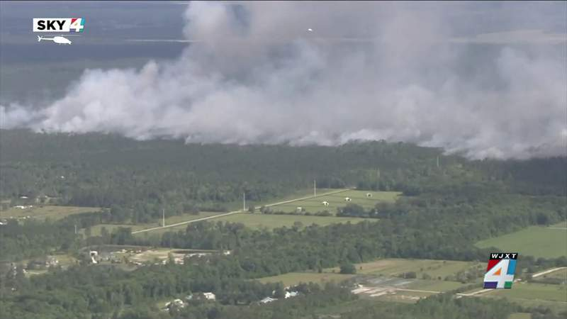 Wildfire in rural St. Johns County burns 675 acres