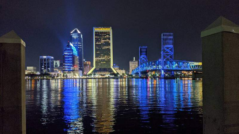 The downtown Jacksonville skyline