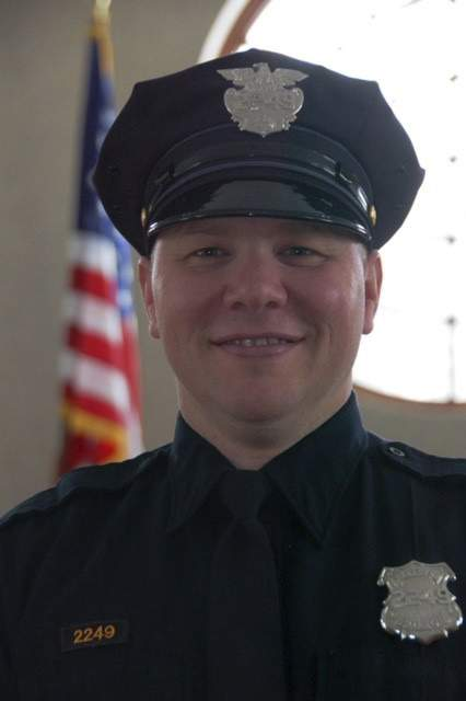 Det. James Skernivitz is shown in this undated photo provided by the Cleveland Division of Police. Skernivitz, 53, was shot and killed along with an informant, while sitting an unmarked car during a drug operation in Cleveland, Ohio on Thursday, Sept. 3, 2020. (Cleveland Division of Police via AP)